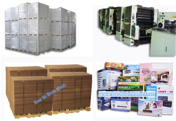 vật liệu sản xuất thùng carton