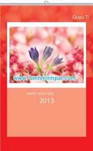bộ lịch nét hoa