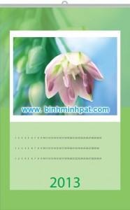 lịch treo trường nét hoa