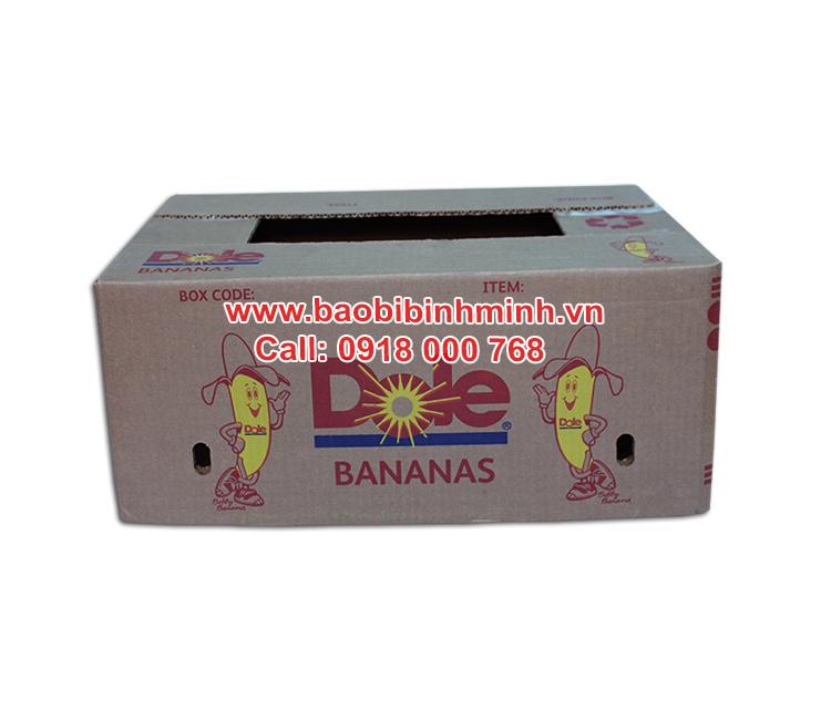 thùng carton đựng chuối