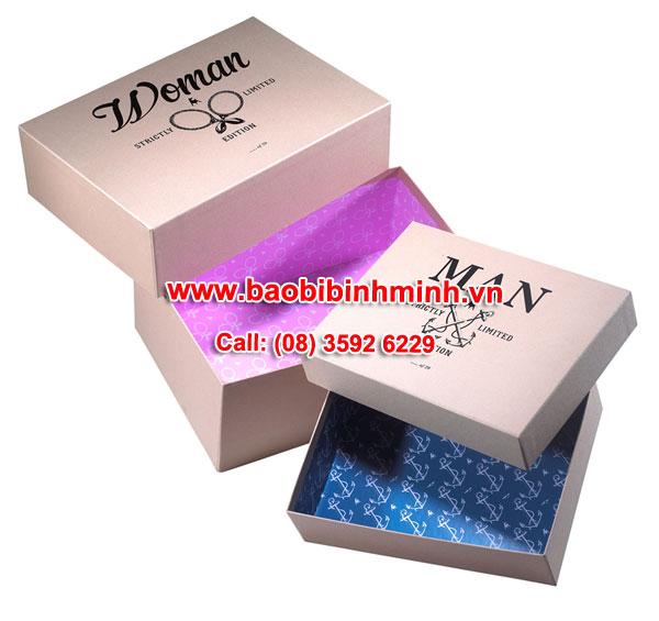 mẫu hộp giấy Womanman minh hoạ ( tham khảo)