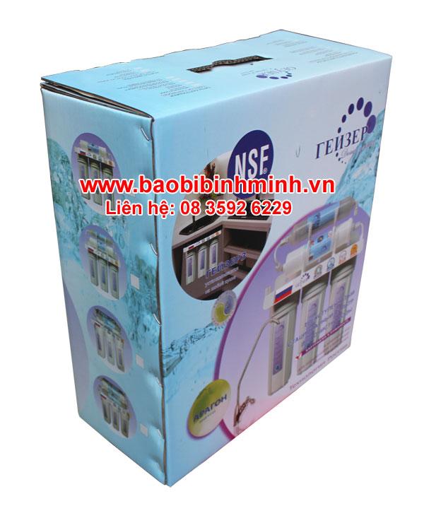 mẫu thùng carton chứa bộ lọc nước GEYSER