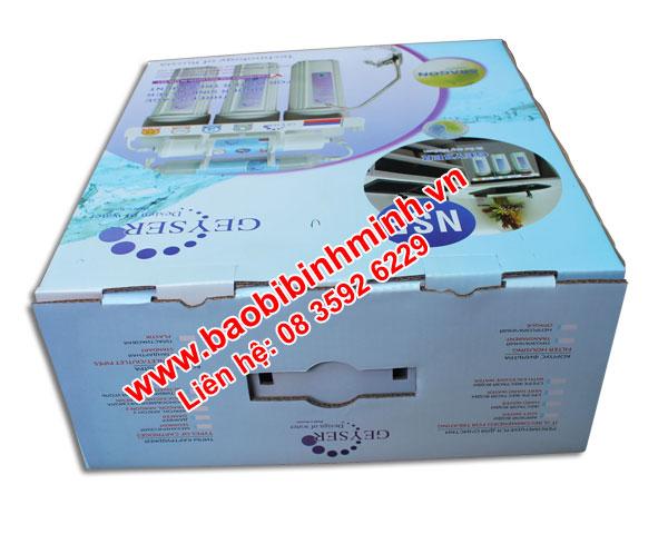 mẫu thùng carton đựng bộ lọc nước