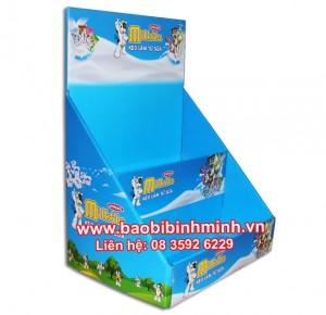 mẫu kệ giấy milkita