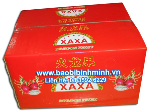 Thùng giấy carton chống thấm đóng gói trái cây xuất khẩu
