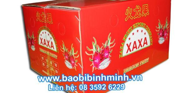 thùng carton thanh long xuất khẩu