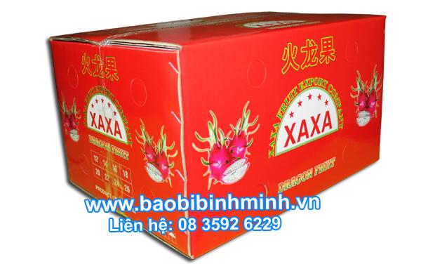 Thùng carton đựng trái cây Thang Long xuất khẩu