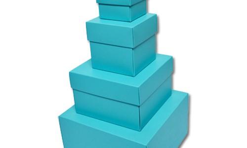 Hộp nắp chồng màu xanh dương bóng