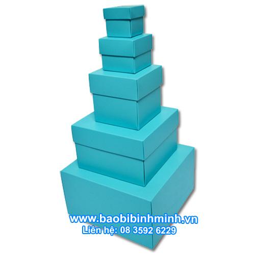 Hộp lồng nhau, màu xanh dương với 5 kích cỡ