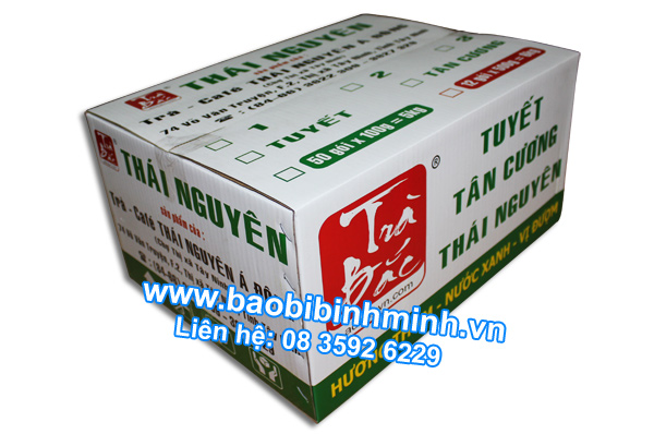 Thùng carton, Mẫu thùng Trà Thái Nguyên