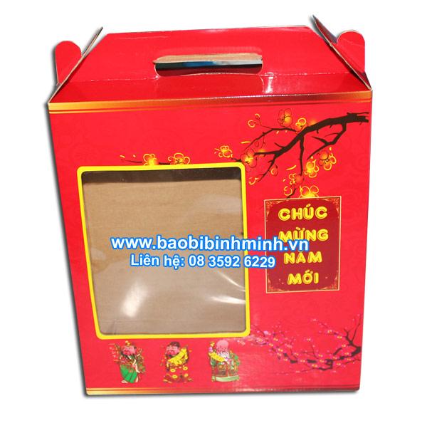 Hộp quà tết 2014 với tông màu đỏ may mắn