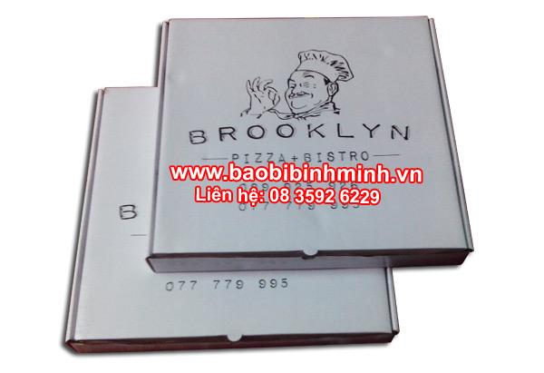 Mẫu hộp bánh pizza xuất khẩu sang Campuchia