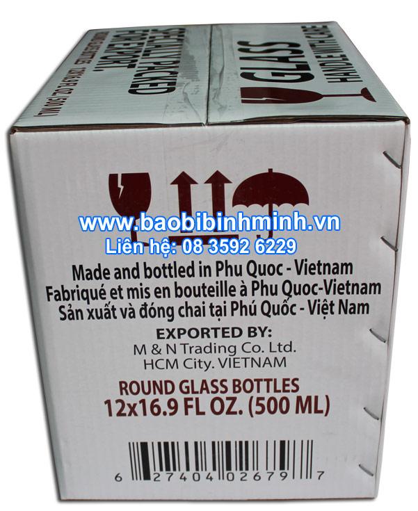 thùng giấy đựng nước mắm Phú Quốc