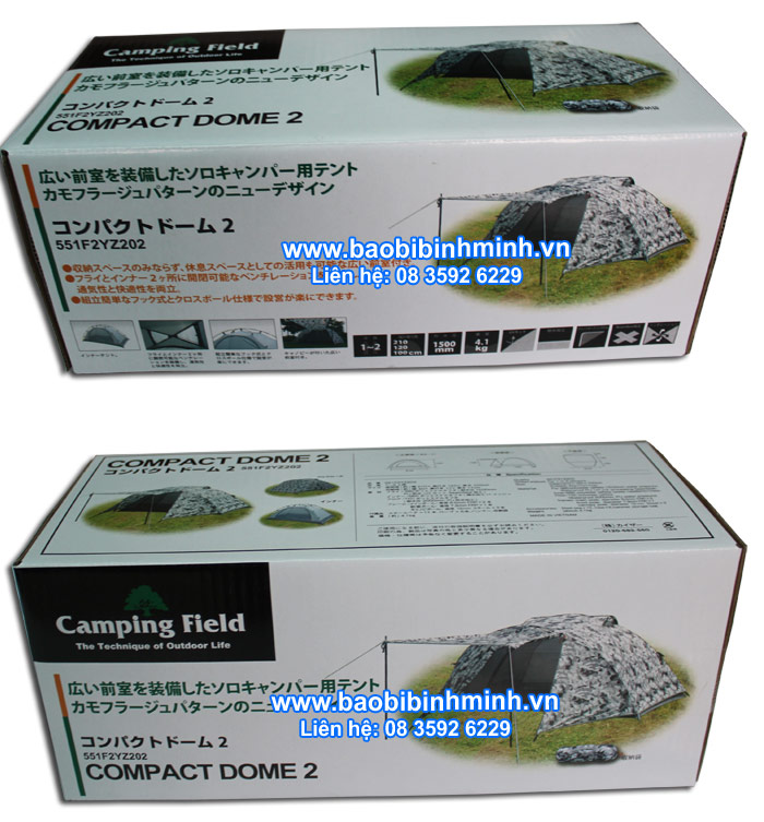 Hình ảnh mẫu hộp giấy - Camping Field