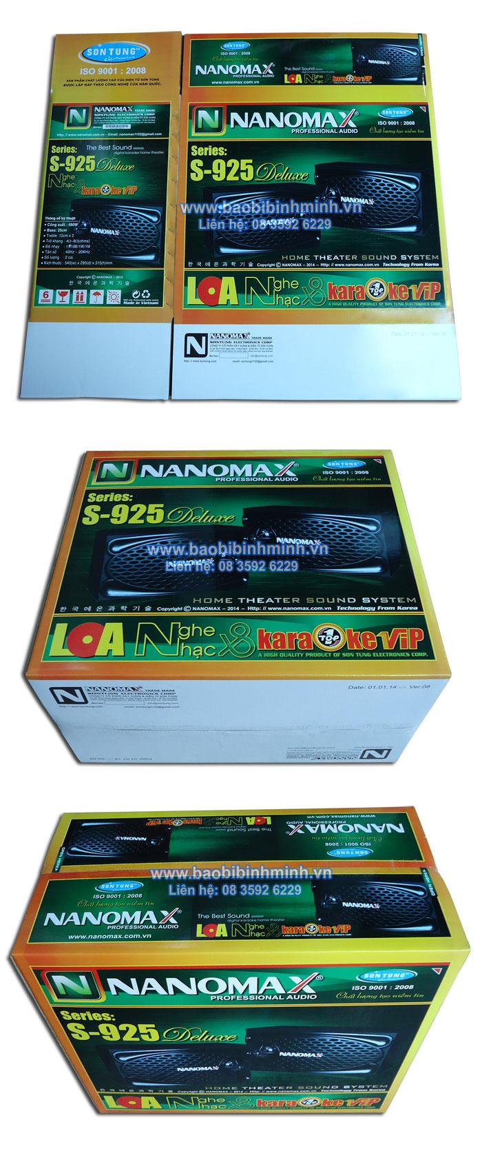 Thùng loa NANOMAX S-925 Delusce
