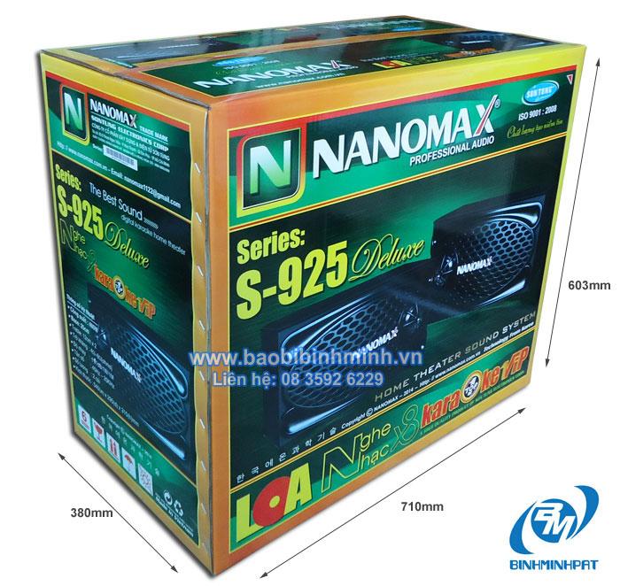 kích thước thùng NANOMAX in offset khổ lớn cao cấp