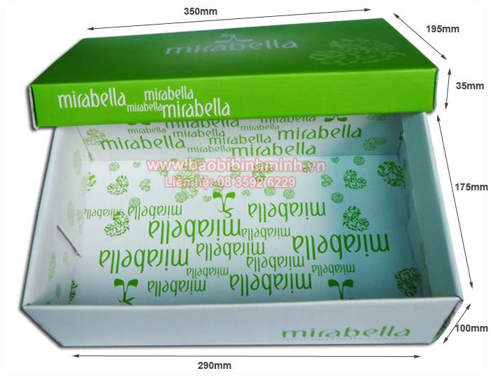 thog6 số kỹ thuật của hộp giày Mirabella