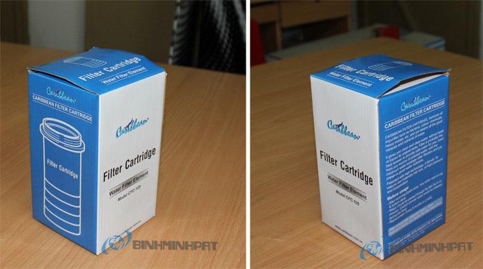 Hộp carton 3 lớp – Hộp carton đựng lõi lọc nước in offset