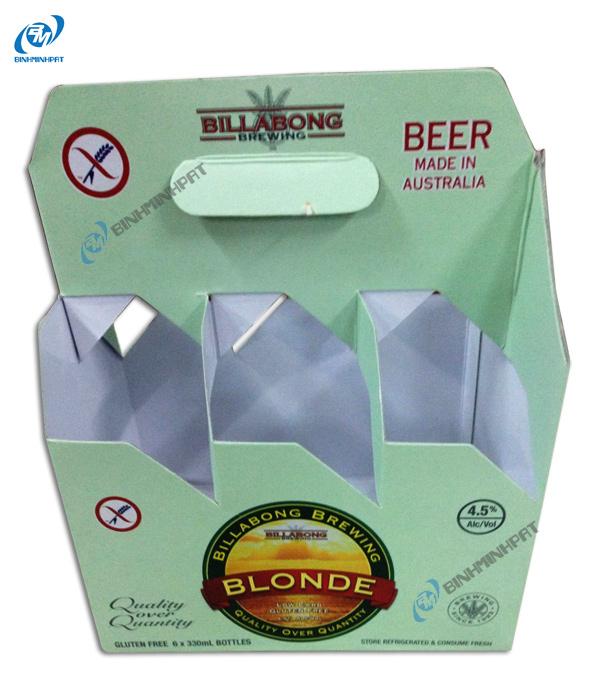 Khay giấy đựng bia 03