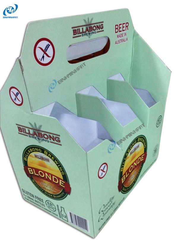 Khay giấy đựng bia