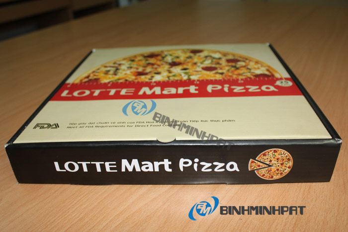 mẫu hộp bánh pizza lotte Mart