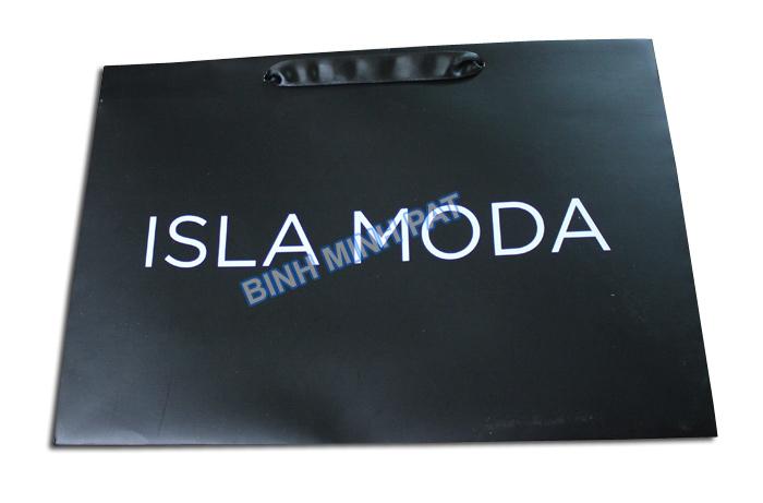 mẫu túi giấy ISLA MODA in offset