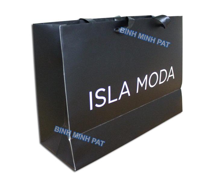 túi giấy thời trang cao cấp ISLA MODA in offset