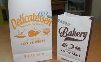 in túi giấy Lotte Mart
