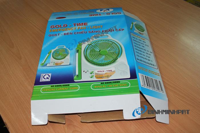 mẫu hộp carton 3 lớp in offset đóng gói quạt máy được mở bung đáy