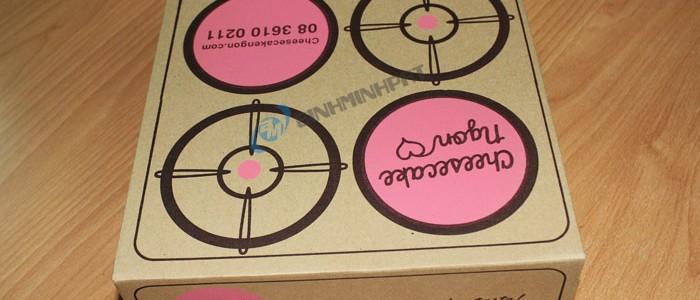 Hộp carton in flexo đựng bánh ngọt