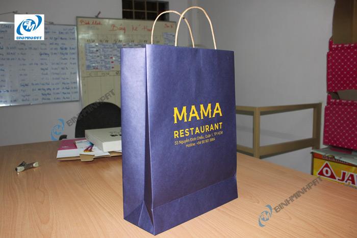 Túi giấy Kraft in offset sang trọng