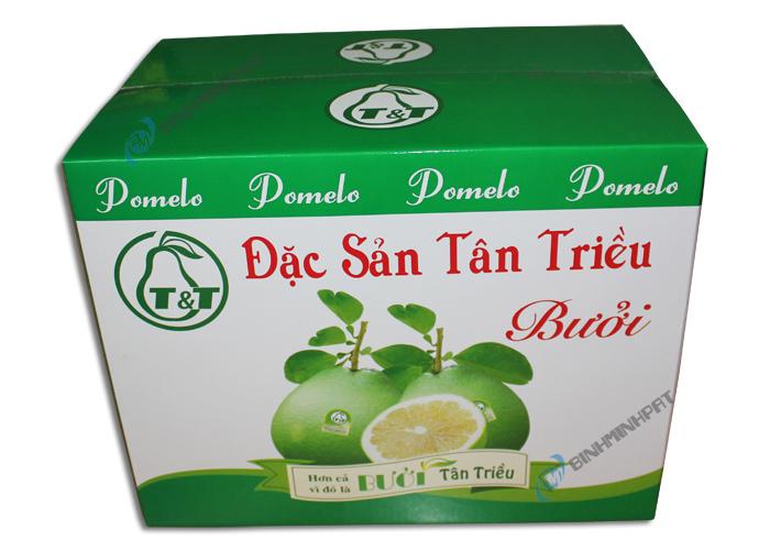 In thùng carton đựng trái cây- Bưởi