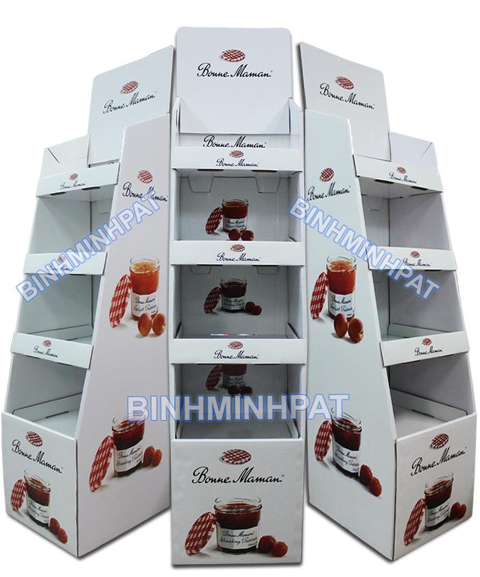Sản xuất Kệ giấy trưng bày sản phẩm mứt trái cây