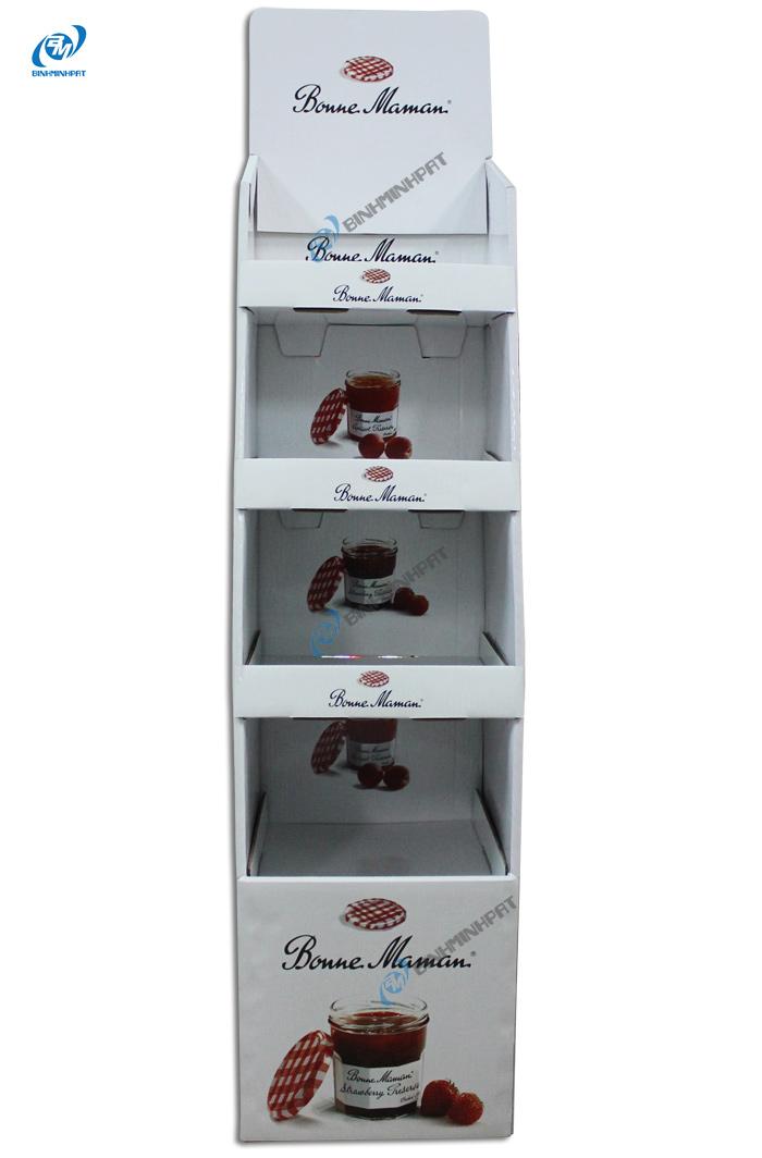 Kệ giấy trưng bày sản phẩm mứt trái cây
