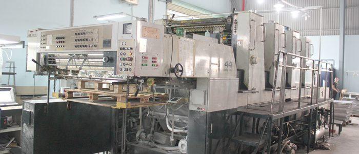 Dàn máy in offset 4 màu hiện đại của Cty bao BÌ Bình Minh