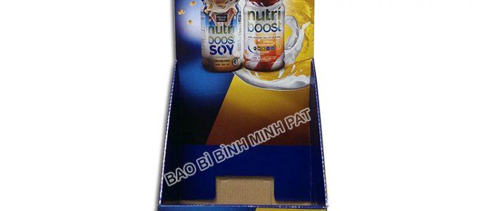 Kệ giấy carton trưng bày sữa -hinh 1