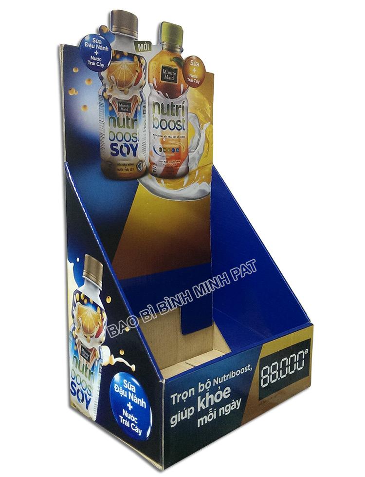 Kệ giấy carton trưng bày sữa -hinh 3