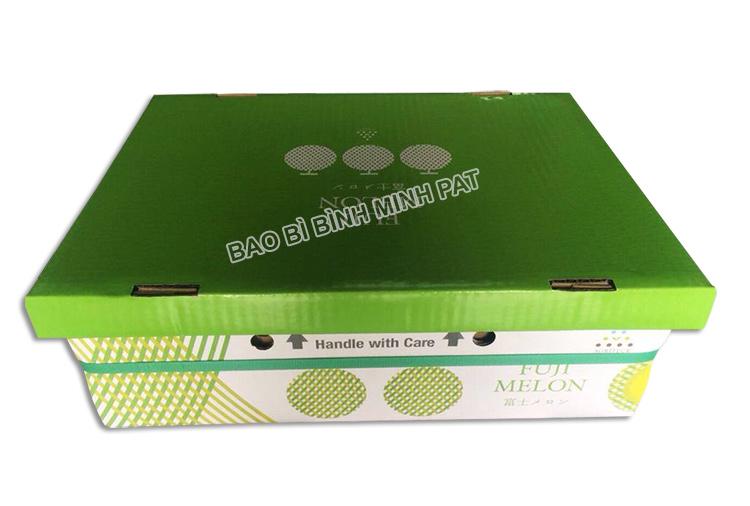 sản xuất thùng carton đựng dưa lưới xuất khẩu - hinh 1
