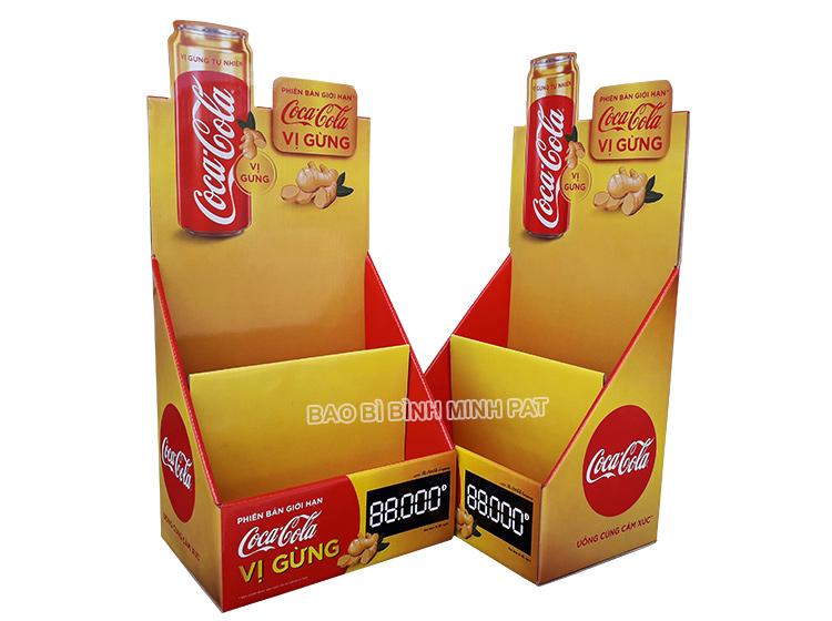 Kệ giấy trưng bày Coca Cola, nước uống giải khát