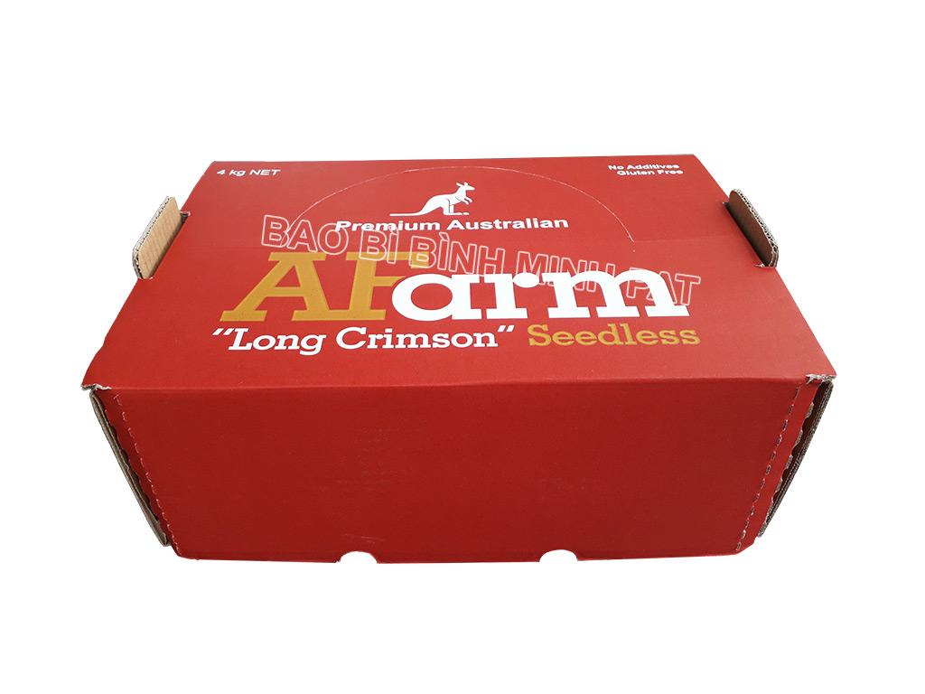In hộp giấy carton đựng nho tươi xuất khẩu