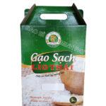In hộp carton đựng gạo sạch – LIO THÁI