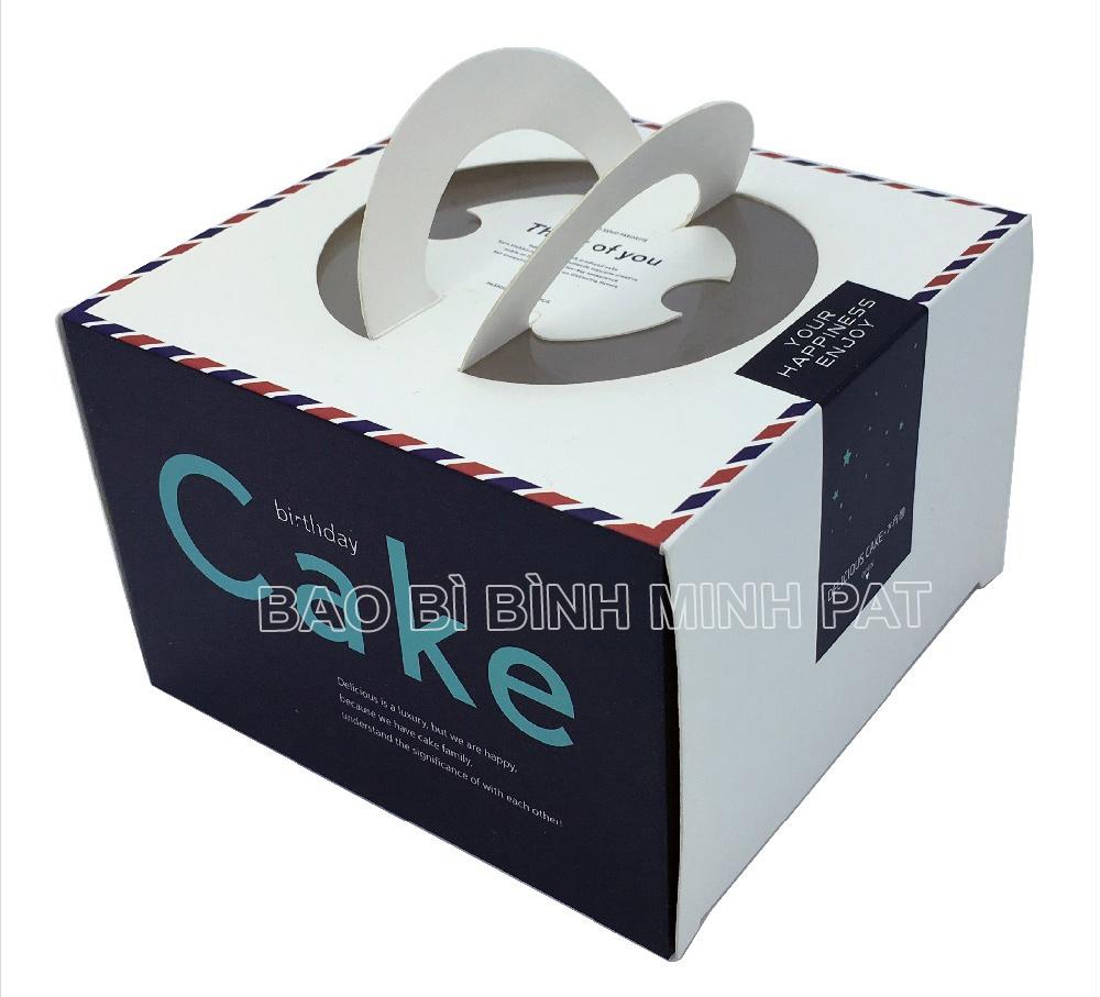 Mẫu hộp bánh sinh nhật BMP-BOX82818 đẹp sang trọng