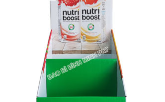 Kệ giấy trưng bày sữa Nutri boost