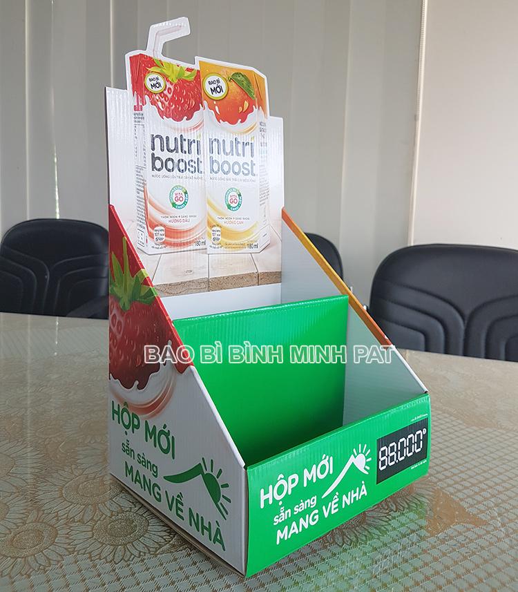 Kệ giấy trưng bày sữa Nutri boost - hinh 2