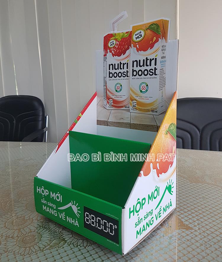 Kệ giấy trưng bày sữa Nutri boost - hinh 3