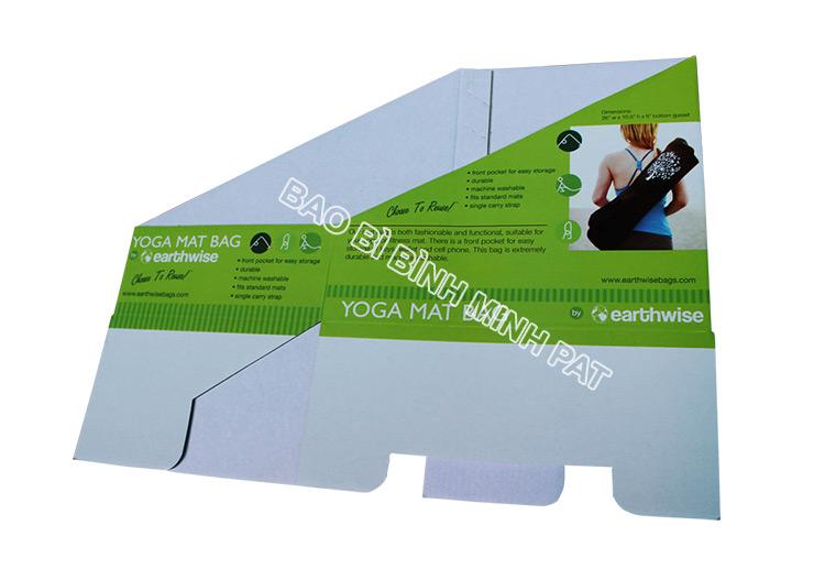 Khay giấy trưng bày dụng cụ tập YOGA - hinh 1