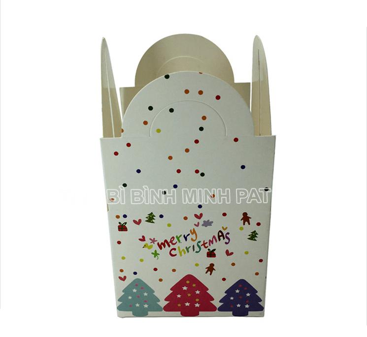 in hộp giấy đựng bánh kem mùa Noel - hinh 3
