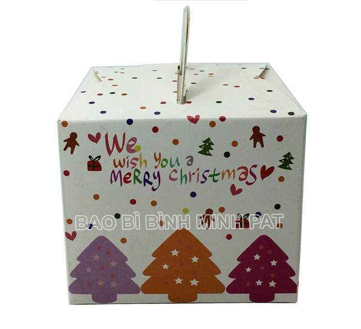 in hộp giấy đựng bánh kem mùa Noel - hinh 4