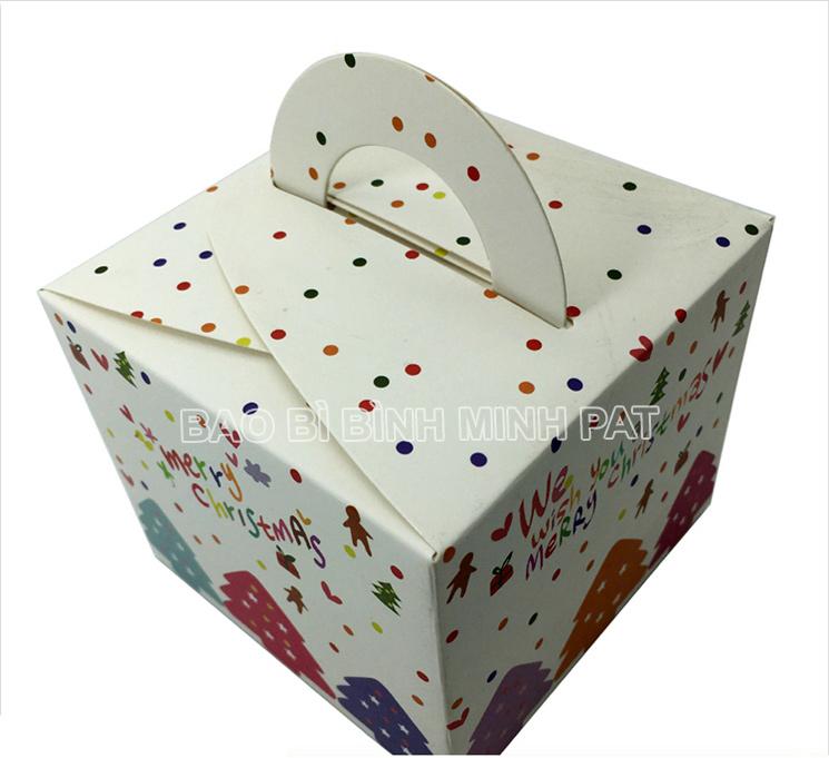 in hộp giấy đựng bánh kem mùa Noel - hinh 5