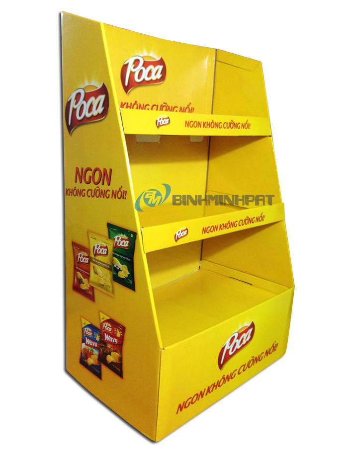 Kệ giấy trưng bày sản phẩm bánh Snack - hinh 3